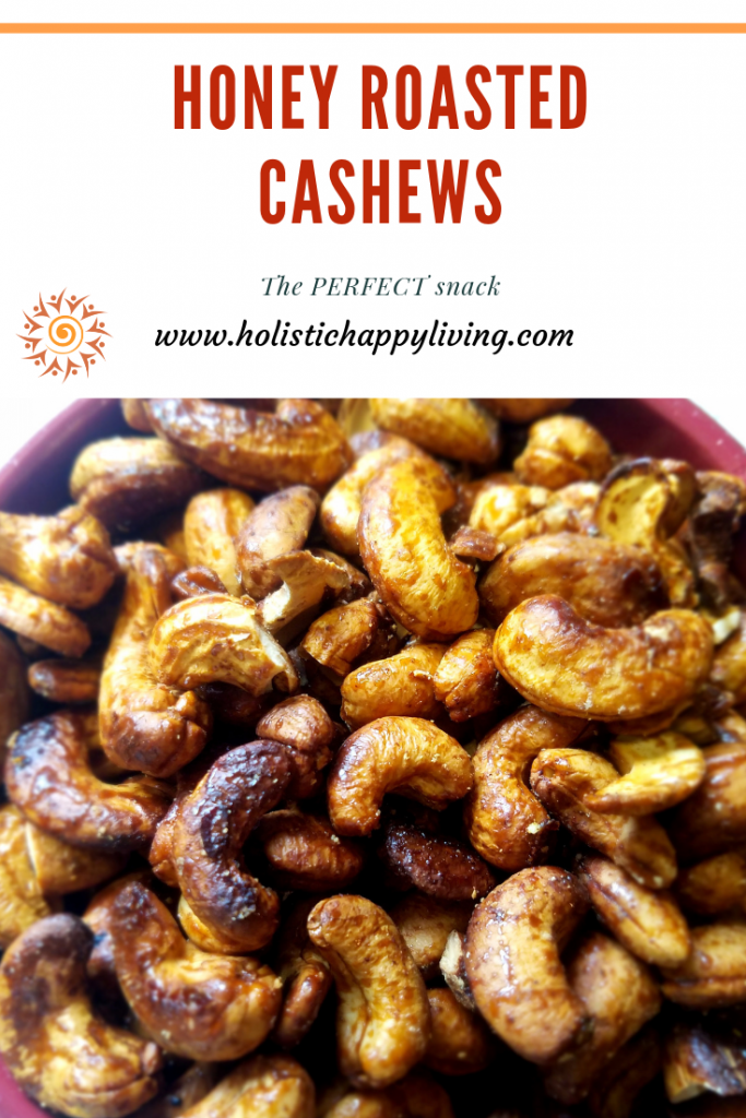 Pinterest-Honey Roasted Cashews